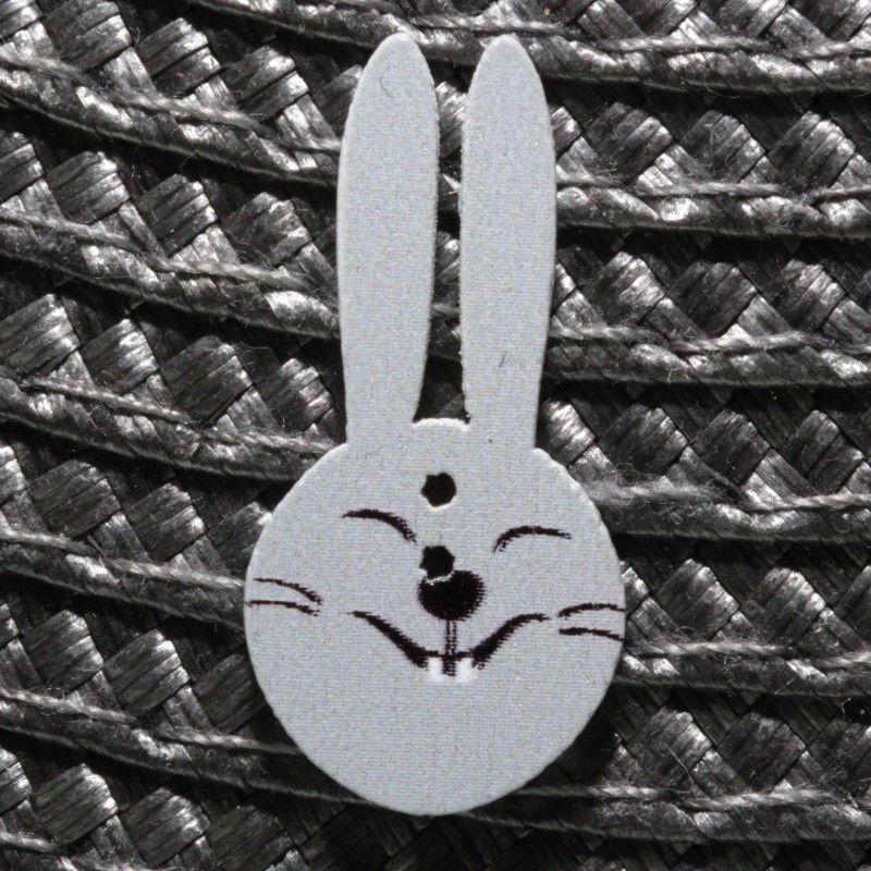 Bouton lapin en bois