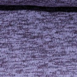 Sweat tricot chiné envers polaire mauve
