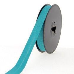 Biais polycoton 20mm - turquoise  - 1Biaisbleu turquoise Largeur 20mm 50% coton - 50% polyester 1 unité = 0m50; pour plusieurs