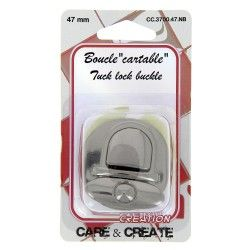 Boucle cartable graphite 47mm