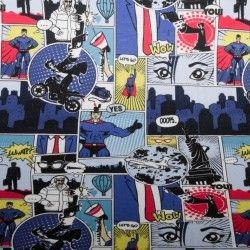 Jersey motifs bande dessinée imitation Superman