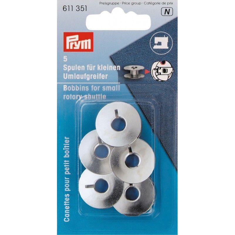 Canettes métal pour petit boîtier Prym Prym - 15 canettes spéciales petit boîtier Dimension de la canette : 21.2mm de largeur x