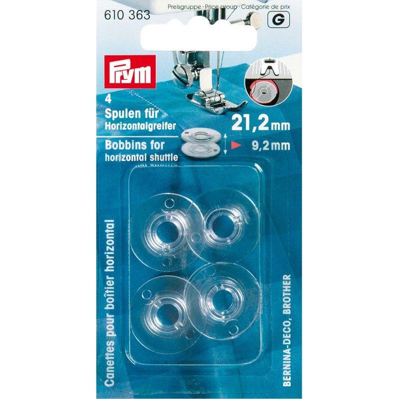 Canettes plastique pour boîtier horizontal Prym Prym - 14 canettesplastiquespourboîtier horizontal Dimension de la canette :