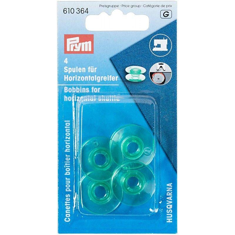 Canettes plastique pour boîtier horizontal Prym Prym - 14 canettesplastique pourboîtier horizontal Dimension de la canette : 2
