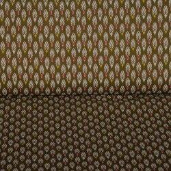 Tissu coton mille plumes X10cm - bronze/corail  - 1Tissucoton mille plumes -bronze et corail 100% coton - certifié OekoTex Hau