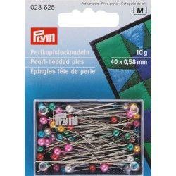 Epingles tête de perles multicolor