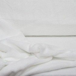 Micro éponge bambou X10cm- blanc  - 1Micro éponge bambou - blanc 40% bambou, 40 % polyester et 20% coton - certifié OekoTex Lai