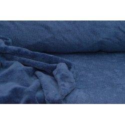 Micro éponge bambou X10cm - indigo  - 1Micro éponge bambou -indigo 40% bambou, 40 % polyester et 20% coton - certifié OekoTex