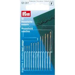 Assortiment aiguilles à coudre Prym Prym - 1Assortiment de 12 aiguilles à coudre ,4 tailles différentes  Aiguilles