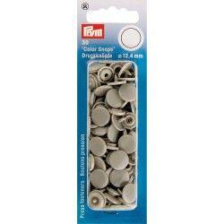 """30 boutons pression """"Color Snap"""" gris Prym Prym - 1Boutons pression ronds-gris Color Snaps . Diamètre 12,4mm Compatible avec l"""