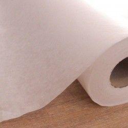 Entoilage moyen thermocollant X10cm - intissé blanc  - 1Entoilage intissé thermocollant - blanc Laize de 0m90 Base viscose, endu