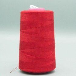 Cône de fil rouge 4573m polyester pour tout coudre  - 1cône de fil colorisrouge Bobine de 4573m, polyester pour tout coudre, po