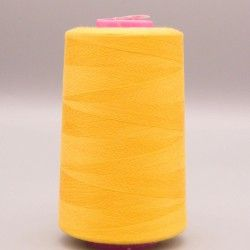 Cône de fil jaune or 4573m polyester pour tout coudre  - 1cône de fil colorisjaune or Bobine de 4573m, polyester pour tout cou