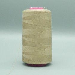 Cône de fil beige 4573m polyester pour tout coudre  - 1cône de fil coloris beige Bobine de 4573m, polyester pour tout coudre, po