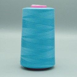 Cône de fil bleu 4573m polyester pour tout coudre  - 1cône de fil colorisbleu Bobine de 4573m, polyester pour tout coudre, pour