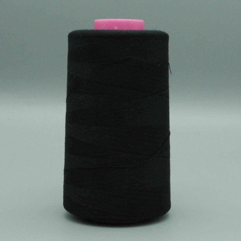 Cône de fil noir 4573m polyester pour tout coudre  - 1cône de fil colorisnoir Bobine de 4573m, polyester pour tout coudre, pour