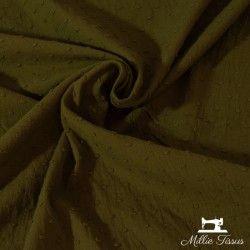 Tissu coton plumetis  X10cm - bronze  - 1Plumetis triple gaze - bronze 100%coton Laize d'1m40 Certifié Oeko-Tex Le tissu est ve