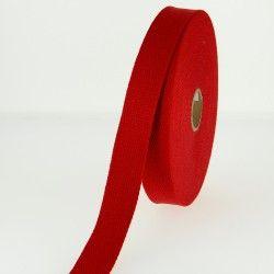 Sangle coton - rouge  - 3Sangle coton rouge Largeur : 30 mm 1 unité = 0m50 ; pour plusieurs longueurs achetées, vous recevrez vo