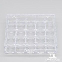 Boîte pour rangement de canettes  - 1Boîte en plastique transparent permettant un rangement soigné des canettes. Pouvant conteni