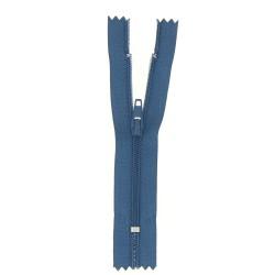 Fermeture polyester fine non séparable bleu jean  - 1