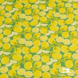 Tissu coton Blend Pucker Up  X10cm - Citrons Blend Fabrics - 1Tissu coton Blend Fabric Pucker up citrons - vert 100% coton Haute