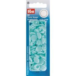 """30 boutons pression """"Color Snap"""" turquoise clair Prym Prym - 1Boutons pression ronds-turquoise clair Color Snaps . Diamètre 12"""