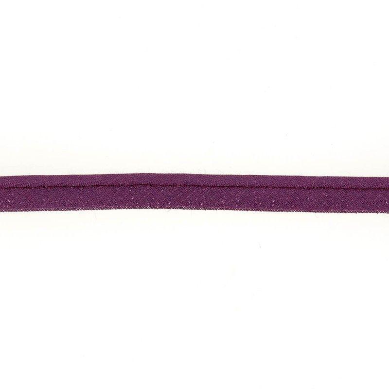 Passepoil prune  - 4Passepoil polycoton prune 50% coton , 50% polyester Largeur : 10 mm 1 unité = 0m50 ; pour plusieurs longueur