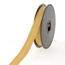 Biais polycoton 20mm - caramel  - 2Biais caramel Largeur 20mm 50% coton - 50% polyester 1 unité = 0m50; pour plusieurs longueur