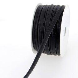 Passepoil simili cuir - noir  - 2Passepoil simili cuir 100% polyuréthane couleur noir Largeur : 10 mm 1 unité = 0m50 ; pour plus