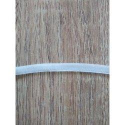 Elastique souple 6mm - écru  - 1Elastiquesouple -écru 88% polyamide , 12% élastodiène Largeur : 6mm Certifiés sans colorants a