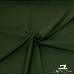 Tissu jersey uni X10cm - kaki  - 1Tissu jerseyuni - kaki 92% coton 8% élasthanne Laize d'1m50 - certifié OekoTex Le tissu est v