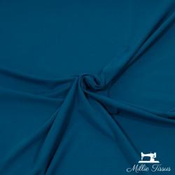 Tissu jersey uni X10cm - bleu paon  - 1Tissu jerseyuni -bleu paon 92% coton 8% élasthanne Laize d'1m50 - certifié OekoTex Le t