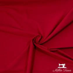 Tissu jersey uni X10cm - cerise  - 1Tissu jerseyuni -cerise 92% coton 8% élasthanne Laize d'1m50 - certifié OekoTex Le tissu e