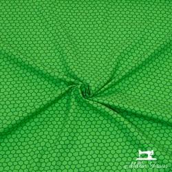 Tissu Popeline formes X10cm - vert  - 1Tissupopelineformes - vert 100% coton Certifié Oekotex Laize d'1m50 Le tissu est vendu