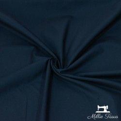 Tissu coton uni X10cm- marine  - 1Tissu coton - marine 100%coton , certifié OekoTex Laize d'1m45 Le tissu est vendu par multipl