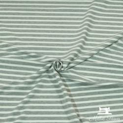 Tissu French Terry marinière X10cm - gris  - 2Tissusweat léger marinière -gris Rayure grise : 1,2cm - rayure blanche : 0,7cm 9