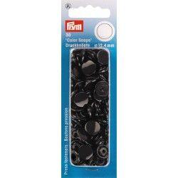 """30 boutons pression """"Color Snap"""" noir Prym Prym - 1Boutons pression ronds- noir Color Snaps . Diamètre 12,4mm Compatible avec"""