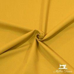 Tissu ameublement coton uni X10cm - Moutarde  - 1Tissu coton d'ameublement - moutarde 100%coton , certifié OekoTex Laize d'1m50