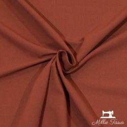 Tissu ameublement coton uni X10cm - Tomette  - 1Tissu coton d'ameublement -tomette 100%coton , certifié OekoTex Laize d'1m50 Le