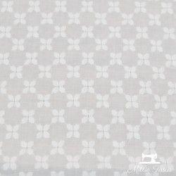 Broderie anglaise éole X10cm - blanc  - 1Tissu coton broderie anglaise éole - blanc 100% coton Laize d'1m30 La lisière est d'en