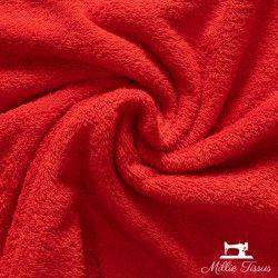 Eponge Californie X10cm - rouge  - 1Tissuéponge Californie -rouge 90% coton 10% polyester, certifié OekoTex Laize d'1m40 Le ti