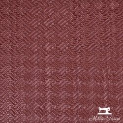 Simili cuir Petit Tressage X10cm - Framboise  - 1Simili cuir ameublement Petite tressage - Framboise 86% PVC, 10% Polyester, 4%
