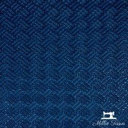 Simili cuir Petit Tressage X10cm - Bleu électrique  - 1Simili cuir ameublement Petite tressage -Bleu électrique 86% PVC, 10% Po