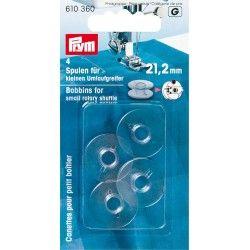 Canettes pour petit boîtier Prym Prym - 14 canettes spéciales petit boîtier Dimension de la canette : 21.2mm de largeur x 9.2 m