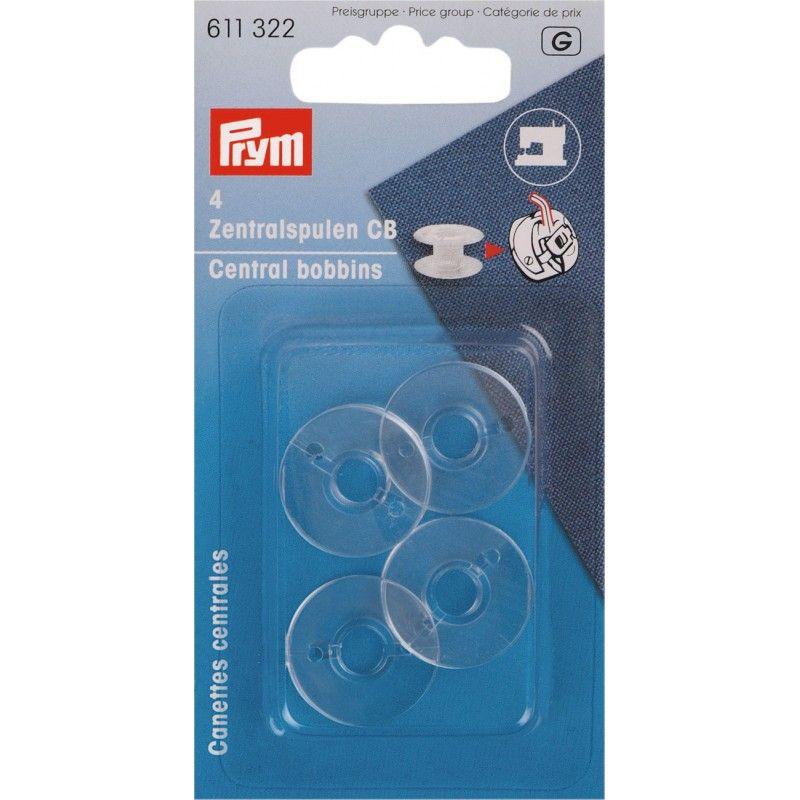 Canettes plastique pour boîtier CB canette centrale Prym Prym - 14 canettesplastiques compatibles avec le boîter CB , système l