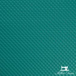 Simili cuir Effet matelassage X10cm - turquoise  - 1Simili cuir ameublement -effet matelassage turquoise Envers feutré 80% PVC,