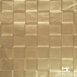Simili cuir Tressage X10cm - Doré  - 1Simili cuir ameublementgrand tressage -Doré 86% PVC, 10% Polyester, 4% Polyuréthane Laiz