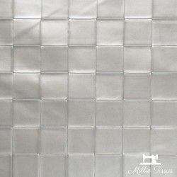 Simili cuir Tressage X10cm - Argent  - 1Simili cuir ameublementgrand tressage -Argent 86% PVC, 10% Polyester, 4% Polyuréthane L