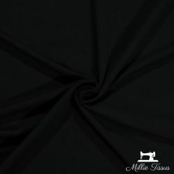 Tissu French Terry sweat léger uni X10cm - noir  - 1Tissu French Terry sweat léger uni -noir 95% coton 5% élasthanne certifié