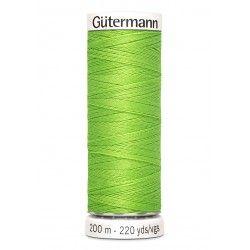 Bobine de fil vert pomme 336 Gütermann 200m polyester pour tout coudre Gütermann - 1Bobine de fil vert pomme coloris 336 Bobine